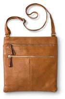 Merona Women's Crossbody Faux Leather Handbag with Double Zipper Detail