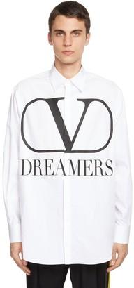 Valentino V Logo Dreamers Cotton Poplin Shirt