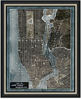 Bed Bath & Beyond Framed Map of New York, NY Wall Décor