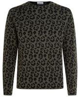 Loewe Leopard Print Wool Sweater