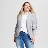 Mossimo Women's Plus Size Cable Cocoon Open Cardigan