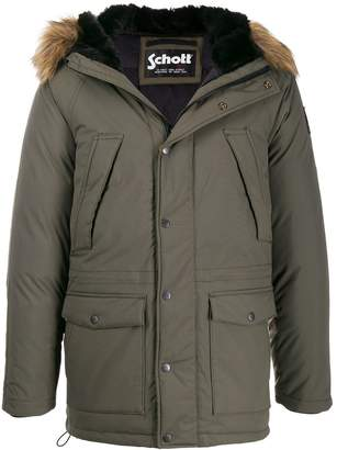 Schott x Artica hooded parka jacket