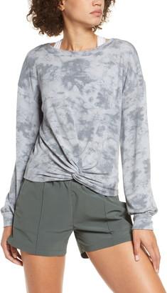 Zella Tie Dye Twist Front Pullover