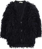 Stella McCartney Fringed chunky-knit wool-blend cardigan