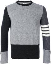 Thom Browne graphic striped sweater - men - Cashmere - 1