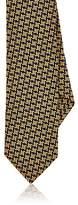 Barneys New York Men's Asymmetrical Square-Pattern Silk Necktie