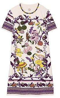 Tory Burch Mushroom Party Cotton T-Shirt Dress