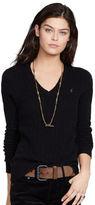 Polo Ralph Lauren Wool Blend V-Neck Sweater