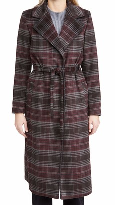 Paige Women's Austina Wool Knee Length Self Belt Coat