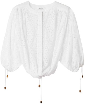 Rodebjer Breeze Embroidery Blouse in White