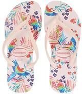 Havaianas Slim Tropical Floral Flip-Flop (Toddler/Little Kid/Big Kid) (Ballet Rose) Girls Shoes
