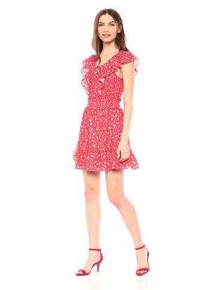 Parker Women's Celeste Lace Up Smocked Mini Dress