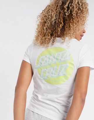 Santa Cruz Coiled Dot t-shirt in white