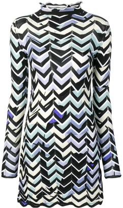 Emilio Pucci Alex chevron-knit mini dress