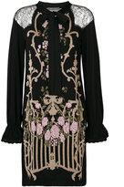 Alberta Ferretti floral design embroidered dress