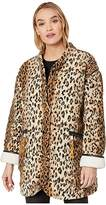 Blank NYC Reversible Leopard Faux Sherpa in Wolf Pack (Multicolor) Women's Clothing