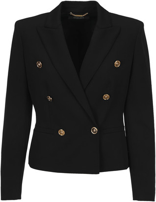 Versace Double-breasted Cropped Blazer