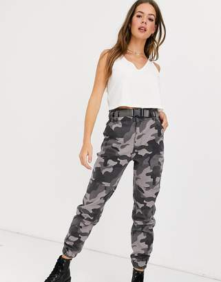 Hollister structured utility jogger in camo-Grey