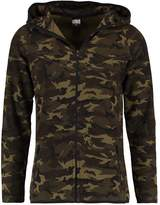 Urban Classics Interlock Camo Zip Cardigan Wood