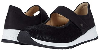 Finn Comfort Assenza (Black/Croco/Stretch) Women's Shoes