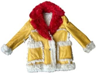 Prada Yellow Shearling Coats