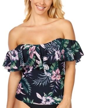 Island Escape Swimwear San Joaquin Floral La Flor Tankini, Created For Macy's Women's Swimsuit