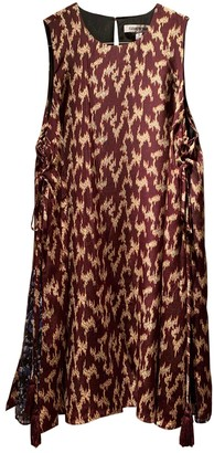 Elizabeth and James Burgundy Silk Dresses
