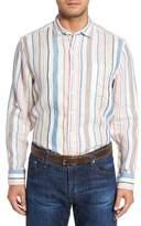 Tommy Bahama Raffia Stripe Linen Sport Shirt