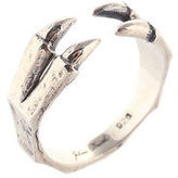Julien David Sterling Silver Claw Ring Adjustable Size 7 New $290 74246
