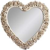 Gallery Heart Shaped Mirror with Rose Detail