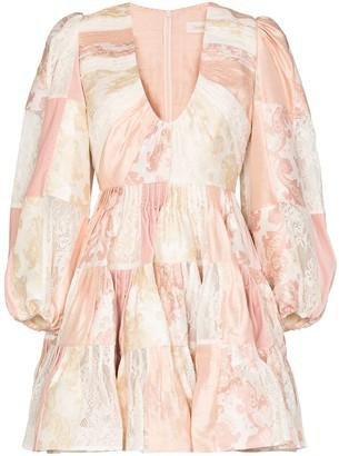 Zimmermann Patchwork Tiered Mini Dress