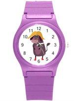 """Kidozooo Boys Girls Cute Yak 1 3/8"""" Diameter Plastic Watch"""