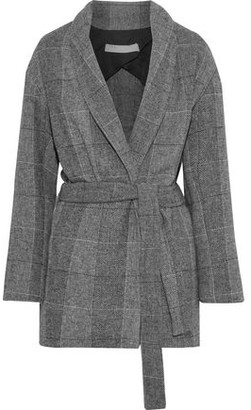 IRO Checked Woven Coat