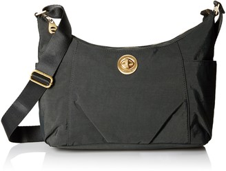 Baggallini Bahia Hobo Tote Bag Gold Hardware with Lightweight Nylon