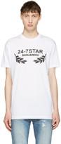 DSQUARED2 White 24-7 Star Logo T-shirt