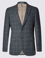 Marks and Spencer Big & Tall 2 Button Checked Jacket