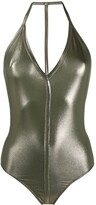 Rick Owens halterneck T-bar swimsuit