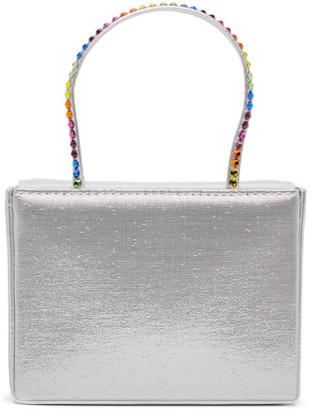 Amina Muaddi Silver Super Amini Gilda Bag