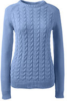 Classic Women's Petite Drifter Cable Sweater-Sunny Yellow