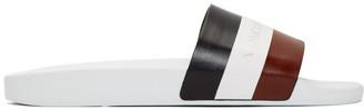 Moncler White Basile Slides