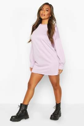 boohoo Petite Volume Sleeve Sweat Dress