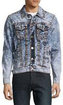 True Religion Button-Down Denim Jacket/Blue- Acid Wash