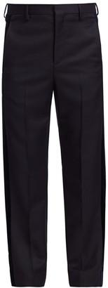 Valentino Front-Pleat Velvet-Tape Trousers