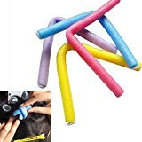 Malloom 10PCS Curler Makers Foam Bendy Twist Curls Beauty DIY Styling Hair Rollers