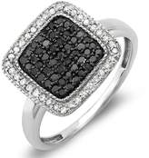 DazzlingRock Collection 0.50 Carat (ctw) Sterling Silver Round & White Diamond Ladies Cocktail Ring 1/2 CT (Size 5.5)