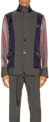 Sacai Suiting Jacket in Gray | FWRD
