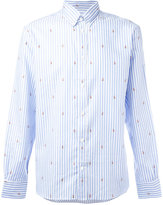 MAISON KITSUNÉ embroidered foxes shirt - men - Cotton - 39
