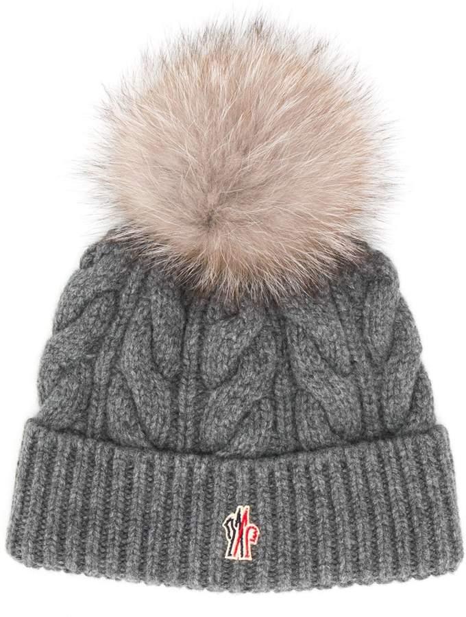 6e5cf4a1e pom-pom cable knit hat
