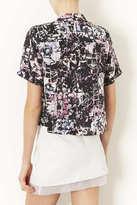 Topshop Grid Floral Print Shirt