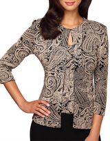 Alex Evenings Glittery Paisley Print Twinset
